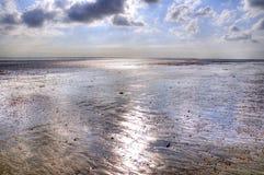 Spiaggia metallica Fotografia Stock Libera da Diritti