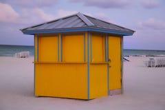 Spiaggia in Miami Beach Fotografie Stock