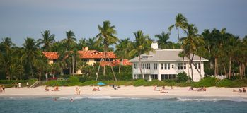 Spiaggia - Miami del sud Florida Fotografia Stock Libera da Diritti