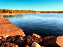 Spiaggia Michigan del parco di stato di McLain Fotografia Stock