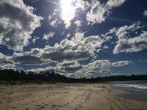 Spiaggia a Mollymook Fotografia Stock