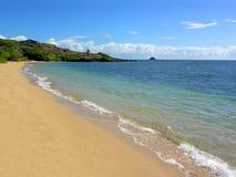 Spiaggia Molocai Hawai di Waialua Immagini Stock