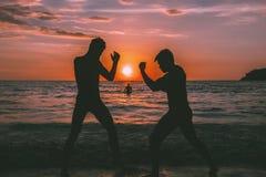 Spiaggia Muay-tailandese Immagini Stock