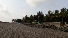 Spiaggia Mumbai di Gorai fotografia stock
