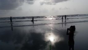Spiaggia Mumbai di Gorai immagine stock libera da diritti