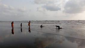 Spiaggia Mumbai di Gorai fotografia stock libera da diritti