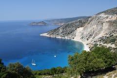 Spiaggia Myrtos di Kefalonia fotografie stock