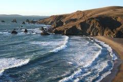 Spiaggia nascosta, costa del Pacifico fotografia stock libera da diritti