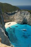 spiaggia Navagio in Zacinto, Grecia Immagini Stock