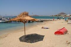 Spiaggia, Naxos, Grecia Immagine Stock