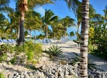 Spiaggia nei Caraibi Immagini Stock Libere da Diritti