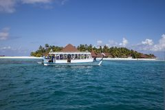 Spiaggia nei Maldives immagine stock