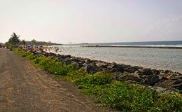 Spiaggia nei piñones, Porto Rico Immagini Stock Libere da Diritti