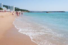 Spiaggia nel centro balneare Fotografia Stock