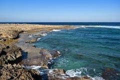 Spiaggia nel Cipro Fotografia Stock Libera da Diritti