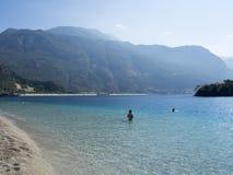 Spiaggia nel deniz del ¼ di Ã-lÃ, Turchia fotografia stock libera da diritti