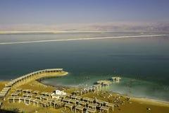 Spiaggia nel mar Morto Immagine Stock