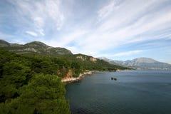 Spiaggia nel Montenegro Immagini Stock Libere da Diritti