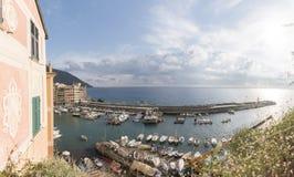 Spiaggia nel paese Italia della Liguria Fotografie Stock