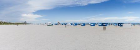 Spiaggia nel panorama di Miami Florida Immagine Stock