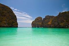 Spiaggia nel sud della Tailandia Fotografia Stock Libera da Diritti