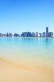 Spiaggia nell'Abu Dhabi, UAE Fotografia Stock