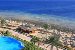 Spiaggia nell'Egitto Fotografia Stock