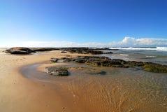 Spiaggia nell'emisfero del sud Fotografie Stock Libere da Diritti