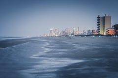 Spiaggia nell'isola del sud di cappellano, il Texas fotografia stock libera da diritti