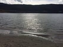 Spiaggia nella città di Kamloops Immagini Stock Libere da Diritti