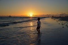 Spiaggia nella sera Fotografia Stock