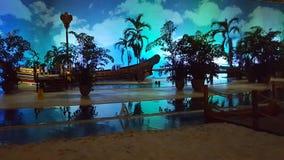 Spiaggia nella sera Fotografia Stock Libera da Diritti