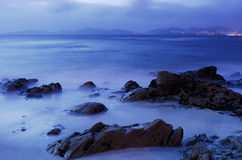 Spiaggia di Barcas a Vigo Immagine Stock