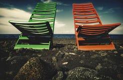 spiaggia nera Λα στοκ φωτογραφίες
