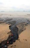 Spiaggia nera Immagini Stock Libere da Diritti