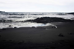 Spiaggia nera Fotografia Stock