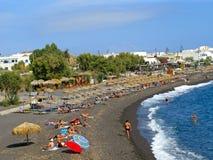 Spiaggia nera Fotografie Stock
