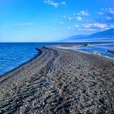 Spiaggia nera della sabbia Immagini Stock
