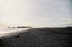 Spiaggia nera in Islanda fotografie stock