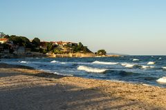 Spiaggia in Nessebar Fotografia Stock Libera da Diritti