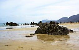 Spiaggia Noja, Cantabria Fotografia Stock Libera da Diritti