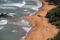 Spiaggia in nord Africa Immagini Stock