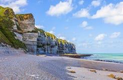Spiaggia in Normandia Fotografie Stock