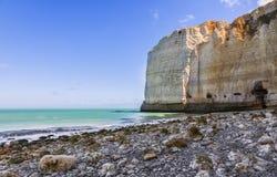 Spiaggia in Normandia Immagini Stock Libere da Diritti
