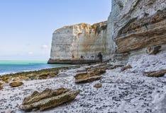 Spiaggia in Normandia Fotografia Stock Libera da Diritti