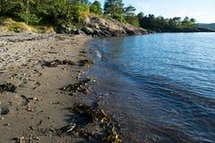 Spiaggia norvegese Immagini Stock