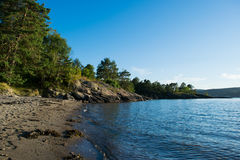 Spiaggia in Norvegia Fotografia Stock Libera da Diritti