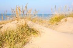 Spiaggia in nuova Buffalo, Michigan Immagini Stock Libere da Diritti