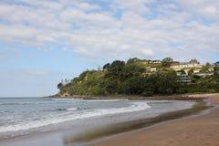 Spiaggia Nuova Zelanda dell'acqua calda Fotografia Stock