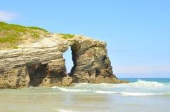 Spiaggia oh le cattedrali Immagine Stock